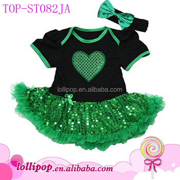 40375dbb5 Cute Baby Names For Girl Picture Baby Girl St. Patrick ' s Day Sparkle  Suquin