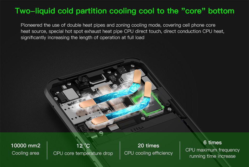 "Original Xiaomi Black Shark Helo Gaming Mobile Phone 8GB 128GB 4000mAh Snapdragon 845 Octa Core 2160*1080 6.01"" Dual 20.0MP"