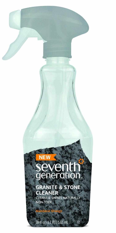 Seventh Generation Granite and Stone Cleaner,Mandarin Orange, 18 Fluid Ounce