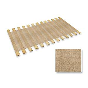 The Furniture Cove Burlap Jute Twin Size Bed Slats Bunkie Board Support Roll