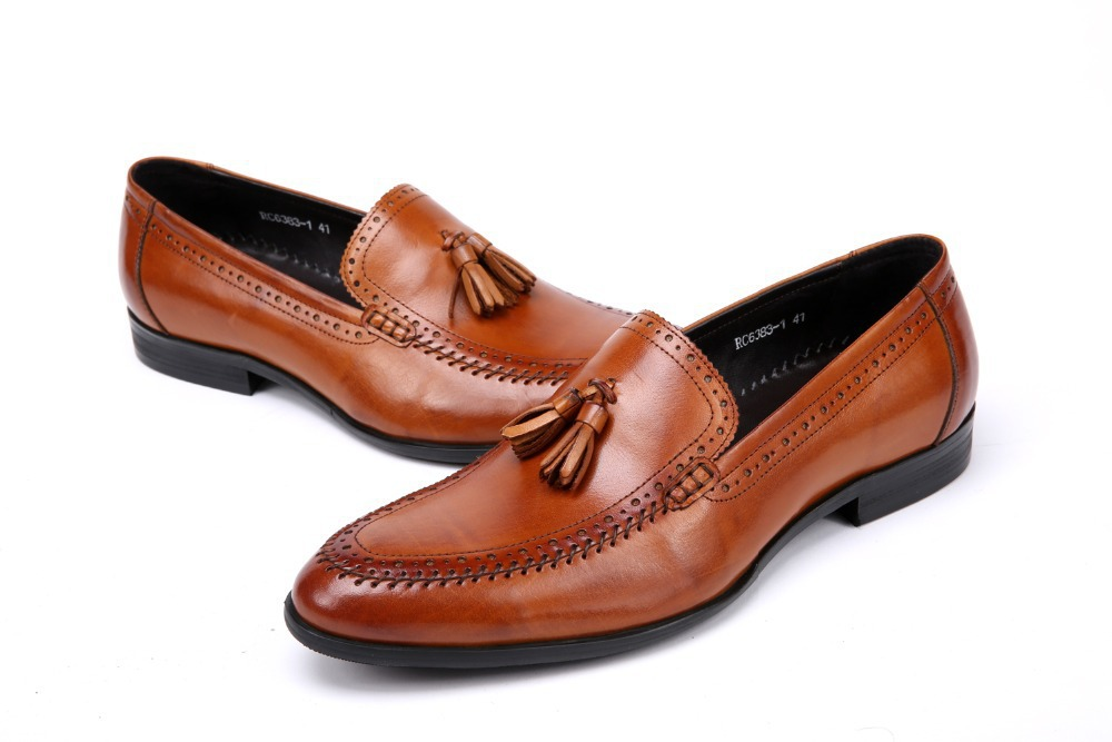 9c213d1f304b8 Reddish brown black mens wedding shoes causal business shoes mens genuine  leather dress shoes mens office shoes formal