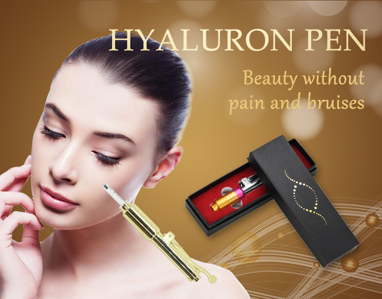 Adjustable needle-free injection of hyaluronic acid serum pen for anti-wrinkle