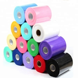Wholesale 100 yards 6inch Cheap Mesh Fabric White Pink Black 44 Colors TUTU Tulle Rolls Tulle Fabric For Wedding Supplies