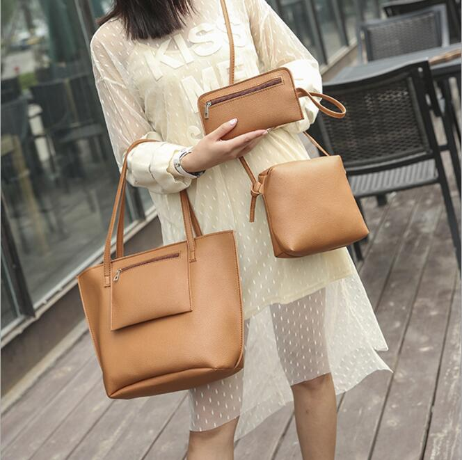 cy10404a Alibaba china supplier wholesale leather bags woman bags handbag 2017 lady bag sets 4pcs in 1set