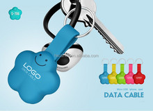 USB multi charger data cable, usb 5pin, 8pin 3 in 1 keychain usb cable special silicone Lucky Star design