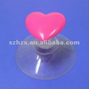 transparent heart shaped plastic wall sucker