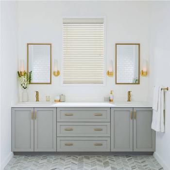 used prefab modular bathroom furniture solid wood bathroom vanity rh alibaba com modular bathroom vanity cabinets Modular Vanity Pieces