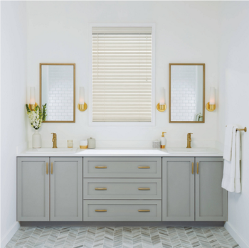 Used Prefab Modular Bathroom Furniture Solid Wood Bathroom Vanity