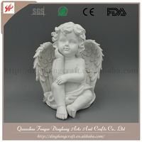 Factory OEM Design Resin Fairy Figurines Artificial Garden Angel Ornament