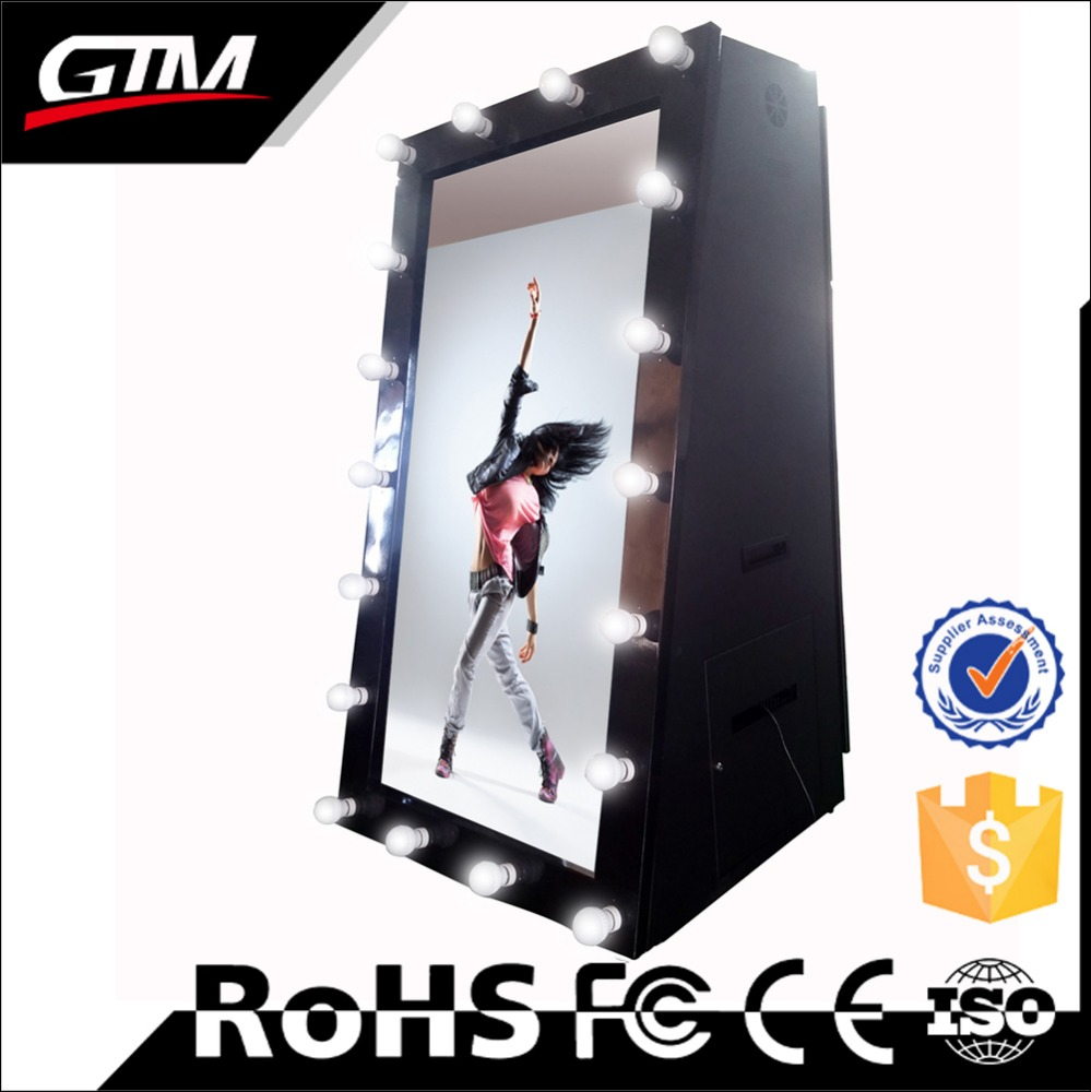55 inch mirror me photo booth smart selfie mirror interactive touch screen smart mirror photobooth price