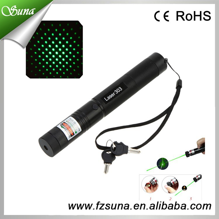 Promotion Green Laser Pen Visible Beam Laser Pointer 303