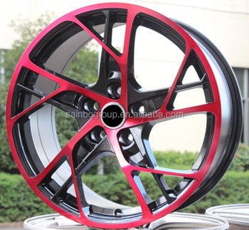New design red line 13 inch car aluminium alloy wheel rim