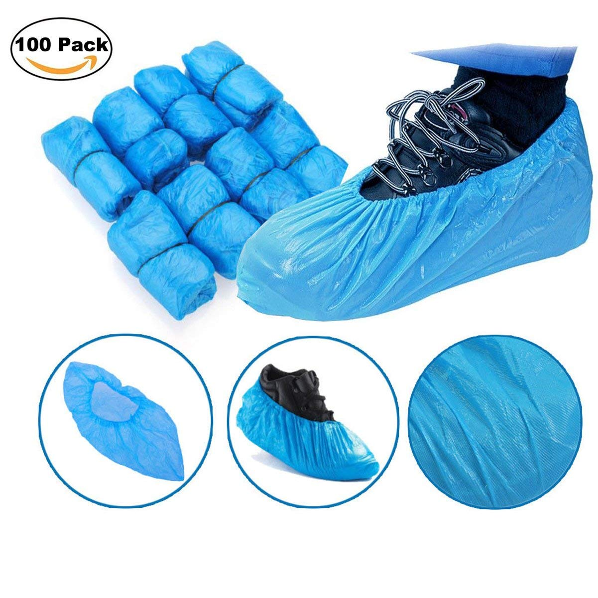 5 Pairs Boot Covers Disposable Shoe Covers Overshoes Medical Waterproof 40cm