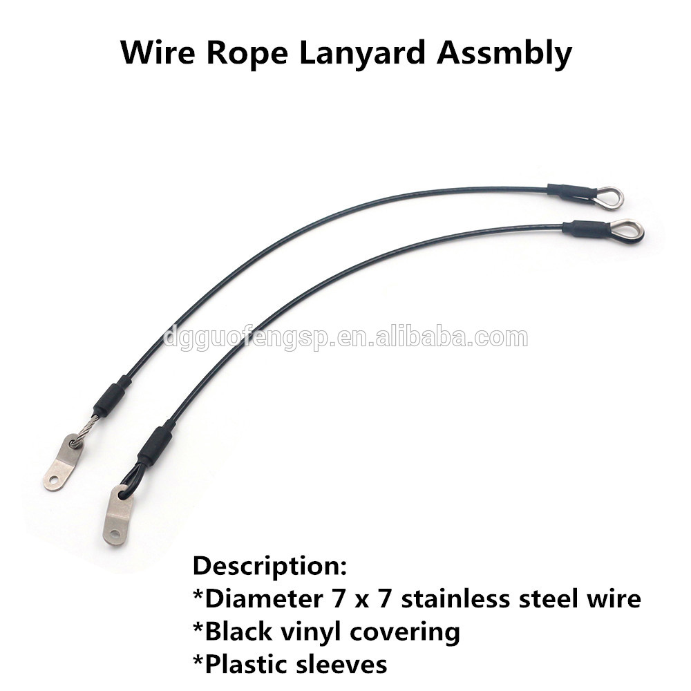 Manufacture Stainless Steel 304/316 Wire Rope Lanyard Assembly With ...