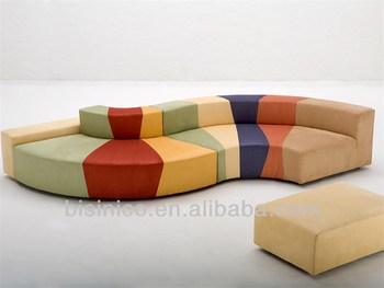 Colorful S Shaped Sectional Sofa Modern Free Combination Corner Sofa Unique Design Living Room