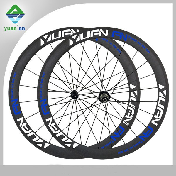 carbon fiber clincher bike wheel 50mm with NOVATEC hub super light for road racing bicycle