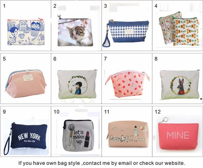 Ginzeal 2018 Blank Wholesale Plain Canvas Custom Printed Cosmetic Bag