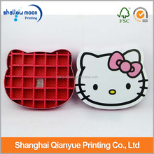2014 nuevo personalizar lujo favor popular katong Hello Kitty tablilla regalo/cajas del caramelo al por mayor