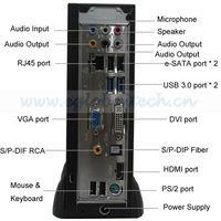 V4-E350 SPDIF port Windows XP Dumb Terminal, Small Fanless PC, Mini PC Station
