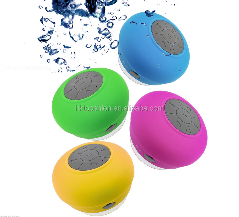 Waterproof bluetooth speaker mini wireless shower speaker bluetooth for iPhone 6, new products 2017