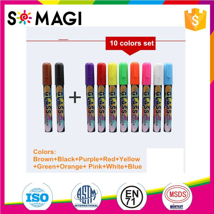Chalktastic Liquid Chalk Markers 10 Pack of Professional Quality Pens With Bright Neon Colours & Bonus 8 Chalk Labels