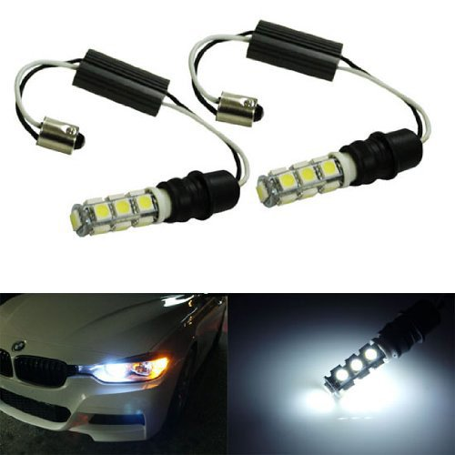 iJDMTOY 6000K Xenon White CAN-bus Error Free 15-SMD-1210 LED Lights For non-Xeonn trim BMW F30 3 Series 328i 335i Position Parking Lights