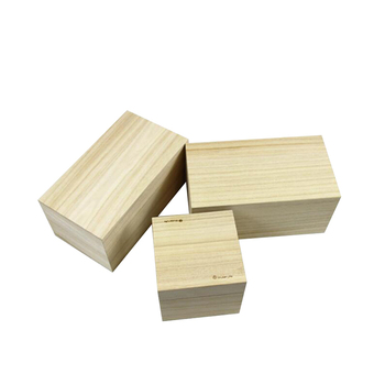 Free Sample Square Grocery Custom Wooden Box For Gift