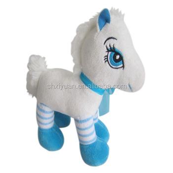 Super Soft Velboa Fabric Blue Cartoon Horse Plush Toys Buy Horse