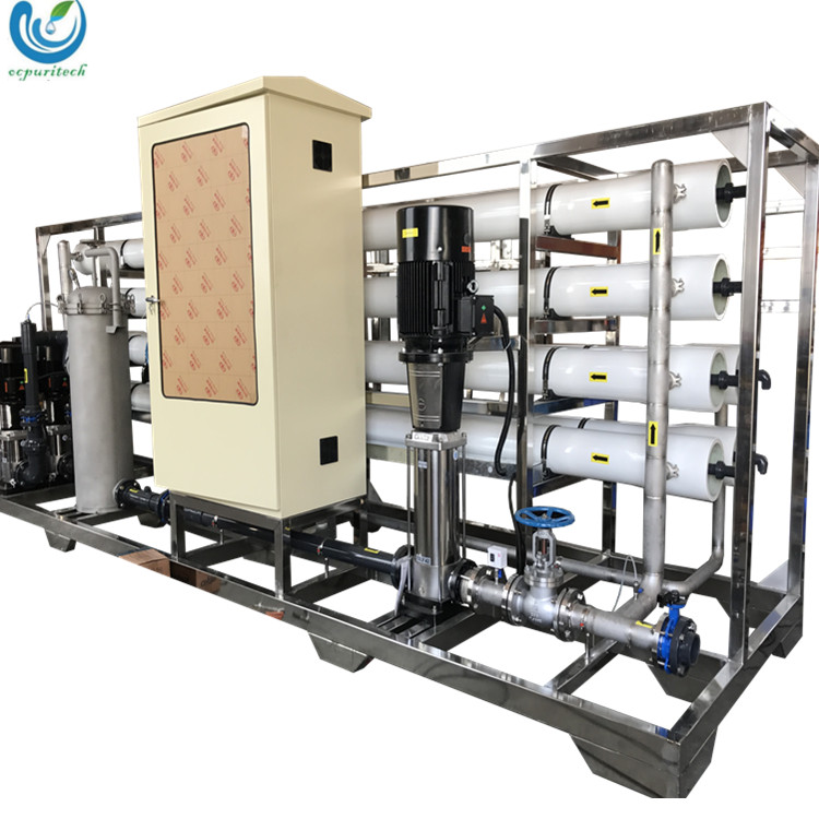 30TPH ro equipment water treatment system / agriculture water treatment with raw water and booster pump