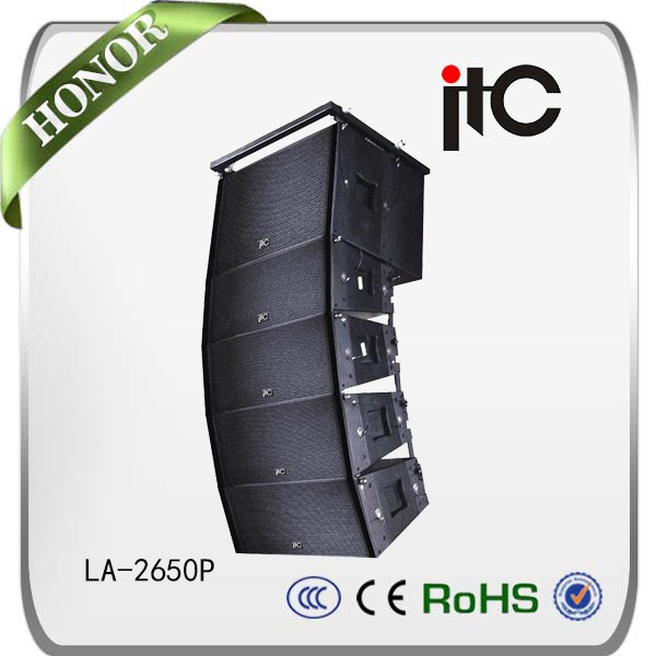 ITC LA Series 350W Subwoofer and 150W Full Range Driver 8ohm Active Line Array Speakers Professional