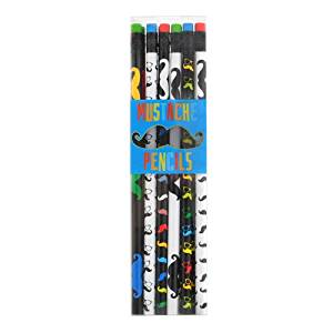 International Arrivals Mustache Pencils, Set of 12 (128-87)