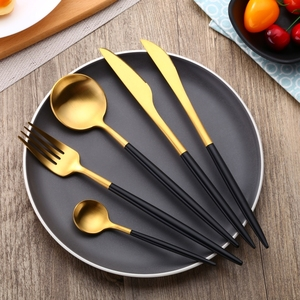 Durable gold stainless steel Edible Silver Portugal cutlery