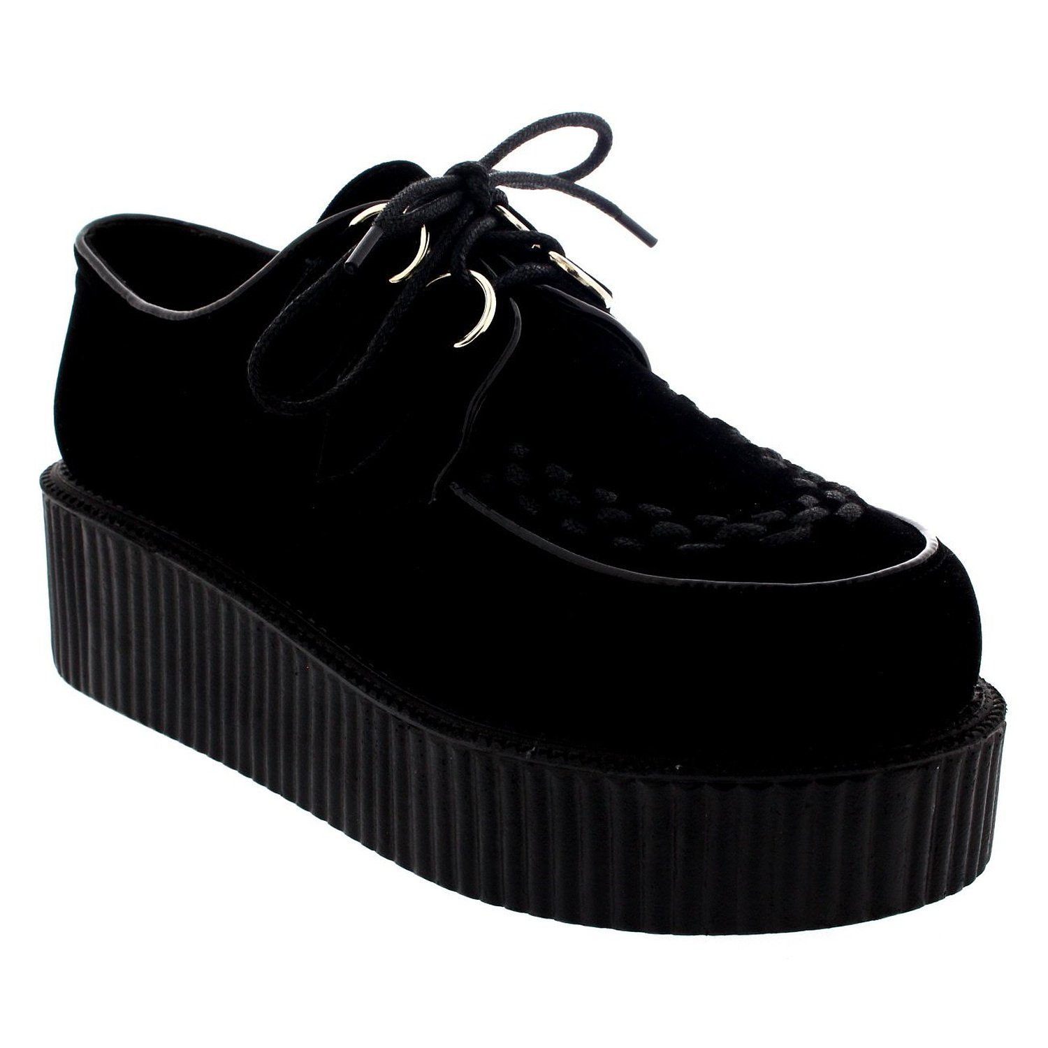 41ec084c918 Get Quotations · Womens Double Platform Punk Goth Flatform Brothel Creepers  Retro Shoes