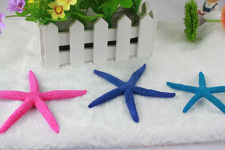 coloured resin hexagon starfish decorative cheap wholesale