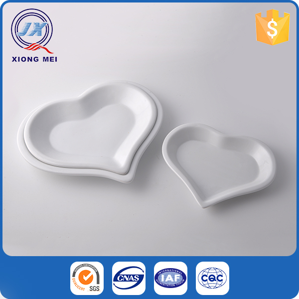 Custom design small heart shaped restaurant dinner ceramic white porcelain plate  sc 1 st  Alibaba & Buy Cheap China heart ceramic plates Products Find China heart ...
