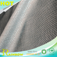 100% Polyester Shiny Fish Scale Sequin Composite Mesh Fabric for Dress
