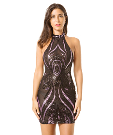 Sexy sleeveless transparent sequence dress night club dresses for women