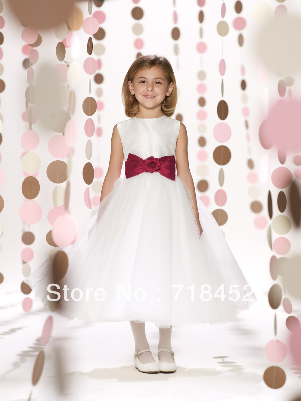 Cheap flower girl dress sashes find flower girl dress sashes deals get quotations 2013 new fashion white organza flower girl dress party dresses sashes with bow free shipping izmirmasajfo Images