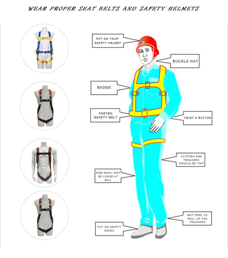 Construction Safety belt full body safety harness