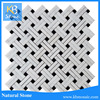 Hot sale cheap marble tile price, basketweave marble mosaic,carrara white marble