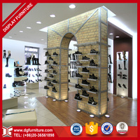 atmospherical shoes warehouse two side display rack storage shelves