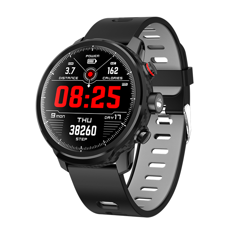 GPS Running Watch with elevate wrist heart rate and smart notifications sports sleep men watch
