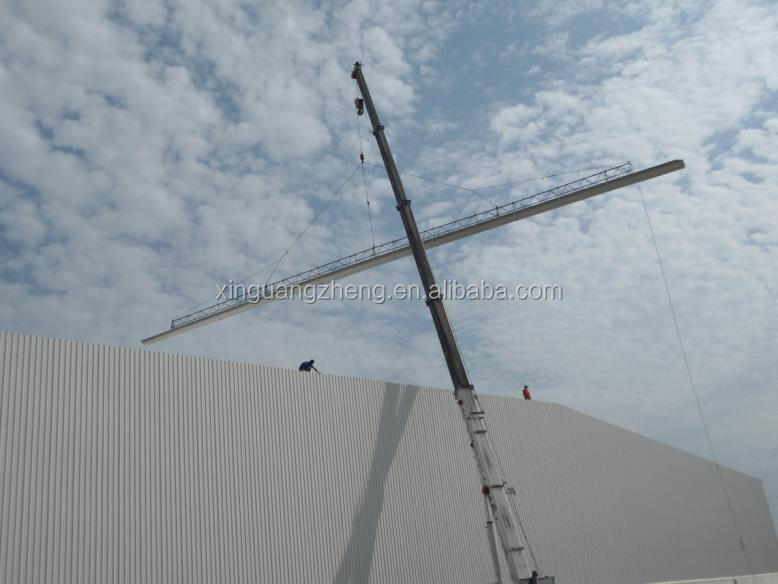 High Quality Prefabricated Large Span Light Steel Frame Warehouse