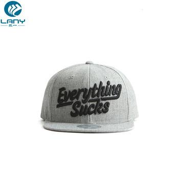 460eda9d843 100% Wool Material Custom 3D Puff Embroidery Logo Snapback Hat