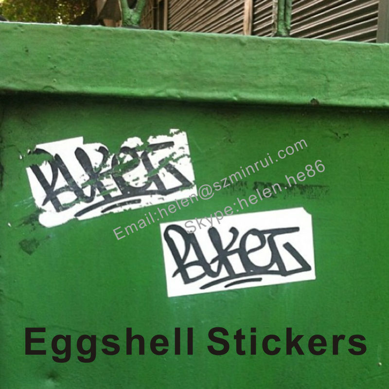 Micro Eggshell Sticker Small Size Destructible Vinyl Label