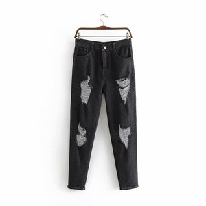 women washed denim cotton harem pants