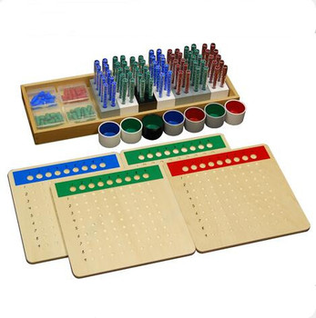 Leader Joy beech wood montessori addition subtraction multiplication and division