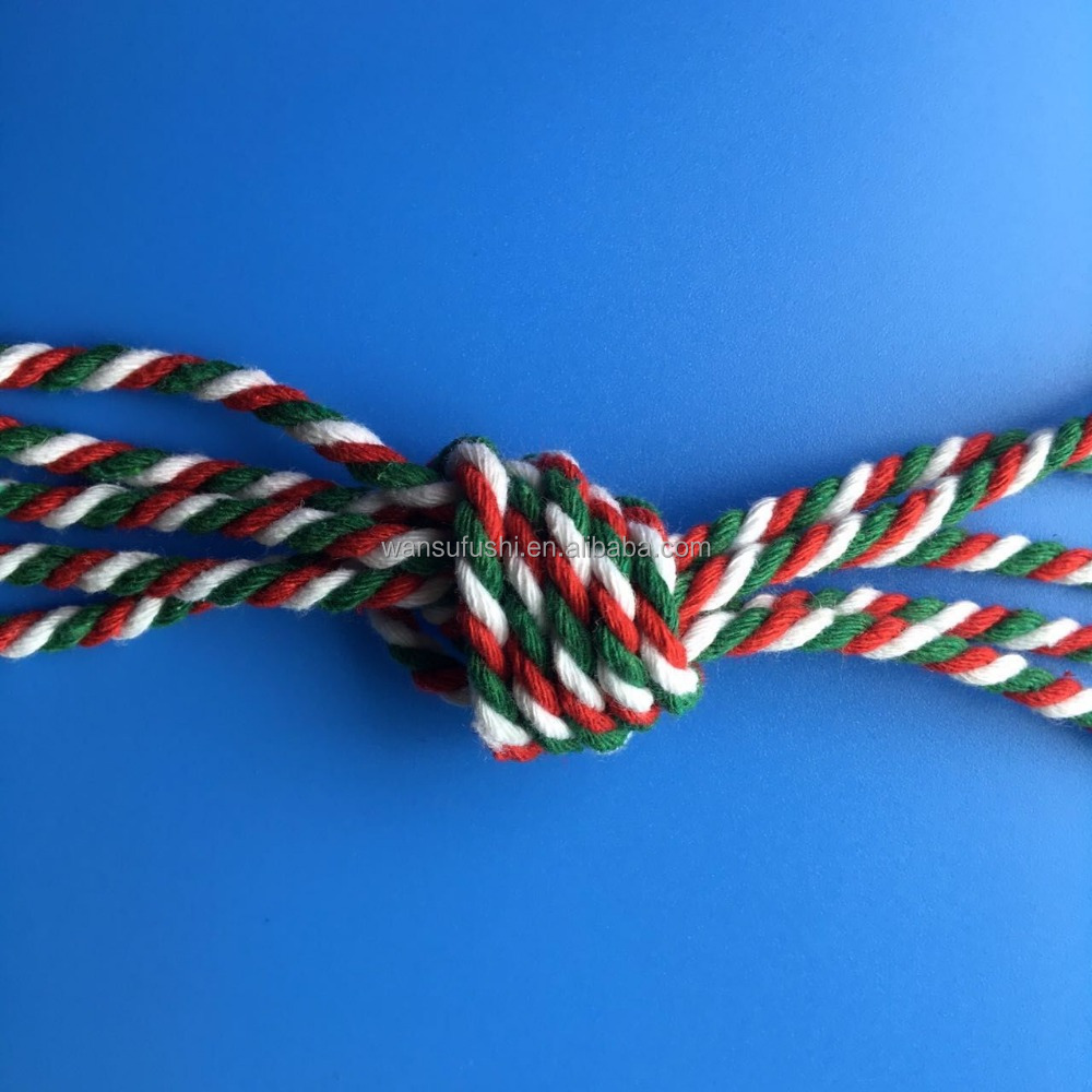 red white green twisted/braided cord/rope factory sale