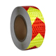 High retro reflective warning tape for vehicles