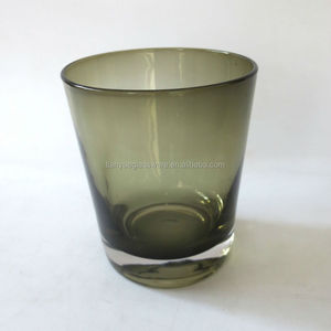 Whiskey Glass Vintage Smoke Gray Drinking Glass Cup